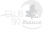 logo club ski beauce blanc